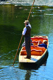 Punting on the Avon river Christchurch - New Zealand Royalty Free Stock Image