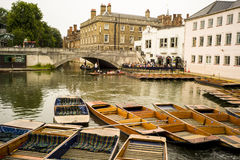 Punting boats Stock Images