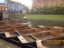Punting in Cambridge Stock Photography