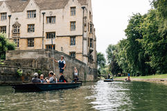 Punting in Cambridge Royalty Free Stock Photos
