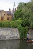 Punting at Cambridge Universit Stock Photos