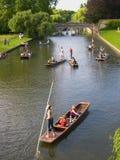 Punting Cambridge University Royalty Free Stock Image