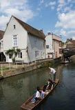 PUNTING I CAMBRIDGE Fotografering för Bildbyråer