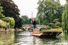 PUNTING I CAMBRIDGE Royaltyfria Foton