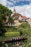 Punting no Neckar River imagem de stock royalty free