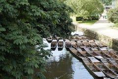Punting łodzie Obraz Royalty Free