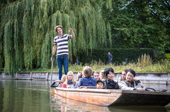 Punting in summer on the river Cam. Stock Photos