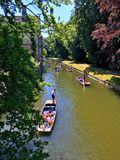 PUNTING W CAMBRIDGE obraz stock