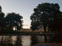 PUNTING W CAMBRIDGE obrazy royalty free