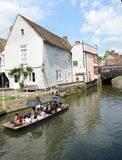 PUNTING W CAMBRIDGE Zdjęcia Royalty Free