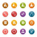 Puntini colorati - icone classiche di Web Fotografia Stock