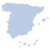 Puntini del programma della Spagna illustrazione di stock