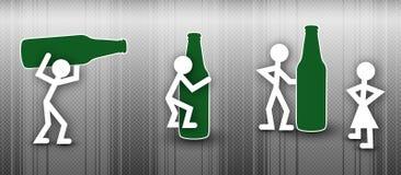 Puntini di concetto della bevanda Fotografia Stock Libera da Diritti