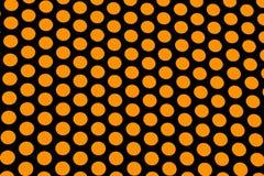Puntini di Polka arancioni Fotografie Stock Libere da Diritti