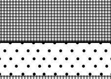 Puntini di Polka del plaid Fotografie Stock