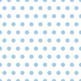 Puntini di Polka dell'azzurro di bambino illustrazione vettoriale