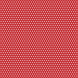 Puntini di Polka rossi e bianchi Immagini Stock Libere da Diritti