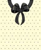 Puntini e nastro di Polka eleganti Immagini Stock
