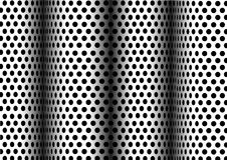 Puntini neri su bianco Fotografia Stock