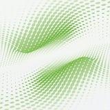 Puntini verdi dell'onda Fotografia Stock