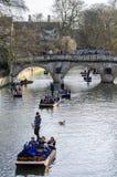 Puntng i flodkam Arkivbild