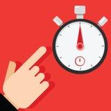Punto al temporizzatore del cronometro Immagini Stock