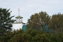 Punto Alaska della sabbia della chiesa di Orthidox del Russo Fotografia Stock