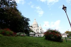 Punto alla basilica di Sacre Coeur, Parigi, Francia fotografie stock libere da diritti