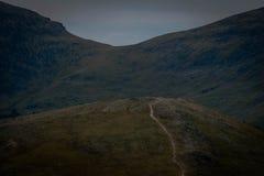 Punto alpino del puesto de observación de la tundra fotografía de archivo
