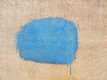 Punto azul de la pintura Imagen de archivo libre de regalías