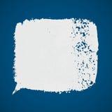Punto blanco de la pintura del grunge del vector en fondo azul