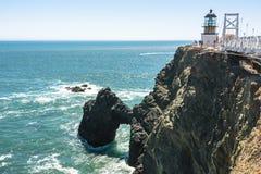 Punto Bonita Lighthouse, San Francisco Bay Fotos de archivo libres de regalías