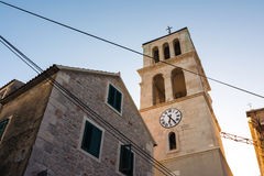 Punto caldo europeo Medit della destinazione di Toruism di estate di Vodice Croazia Fotografia Stock Libera da Diritti