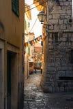 Punto caldo europeo Medit della destinazione di Toruism di estate di Vodice Croazia Immagine Stock Libera da Diritti