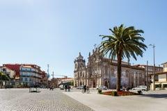 Punto caldo turistico a Oporto del centro Fotografie Stock Libere da Diritti