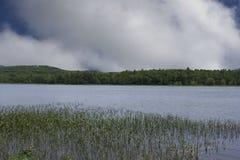 Punto calmo del reflecton sullo stagno di New Hampshire fotografia stock libera da diritti