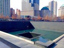 Punto cero monumento 11 de septiembre Imagen de archivo libre de regalías