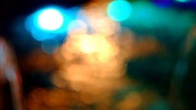 Punto chispeante de la luz en la superficie del metrajes