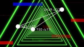 Punto collegato che forma triangolo con il numero sull'angolo Girando sul corridoio verde del triangolo illustrazione vettoriale