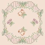 Punto croce decorato della frutta fotografia stock libera da diritti