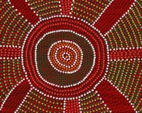 Punto d'incontro aborigeno Immagini Stock Libere da Diritti