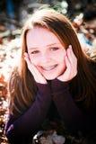 Punto d'irradiazione grazioso dell'adolescente con felicità Fotografia Stock Libera da Diritti