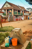 Punto de agua en Ambalavao Imagenes de archivo