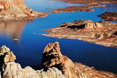 Punto de Alstrom, lago Powell, los E.E.U.U. Fotografía de archivo