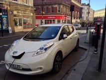 Punto de cambio eléctrico para los coches Imagen de archivo libre de regalías