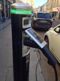 Punto de cambio eléctrico para los coches Fotos de archivo libres de regalías