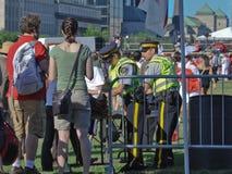 Punto de control de la seguridad de RCMP el día de Canadá fotografía de archivo