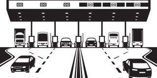 Punto de control del impuesto de camino en la carretera Imagen de archivo