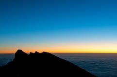 Punto de Gillmans, Kilimanjaro, salida del sol fotografía de archivo