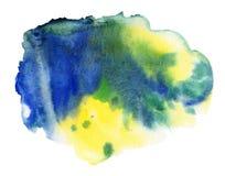 Punto de la acuarela, aislado en un fondo blanco libre illustration